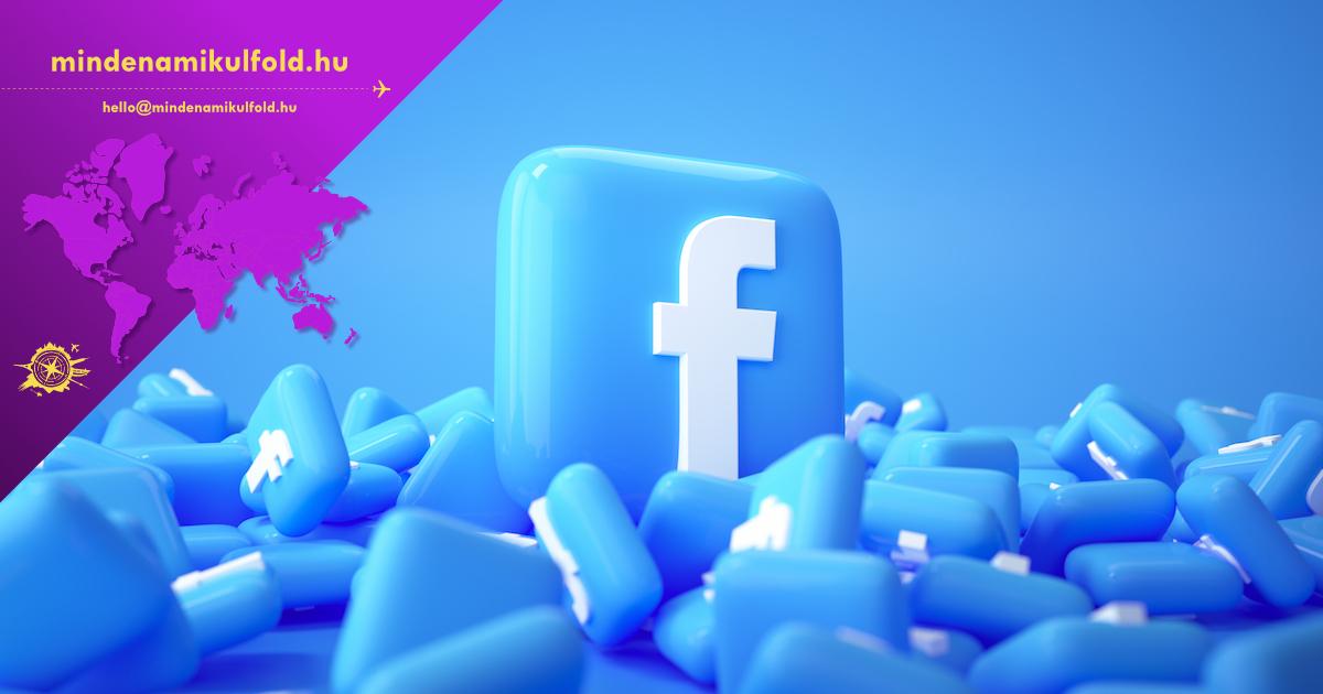 3D Pile of Facebook logo background. Facebook the famous social media platform.